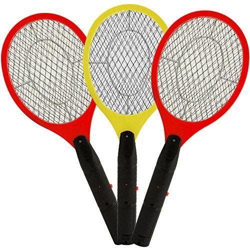 3x Fliegenfänger Fliegenklatsche Insektenvernichter Insektenfalle elektrisch - doppeltes Sicherheitsschutzgitter