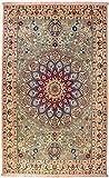 Morgenland Teppiche 207 x 128 cm Orientteppich Grün Handgeknüpft Medaillon