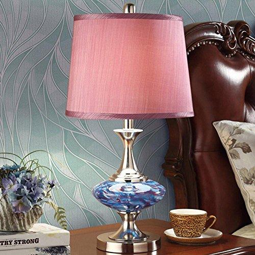 DENG Schreibtischlampe, europäischer Stil, Schlafzimmer, Nachttischlampe, modern, einfach, stilvoll, Wohnzimmerstudio, Tischlampe (Dimmschalter), Purple