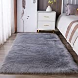 Faux Fur Rug Soft Fluffy Rug 80 x 150 cm Shaggy Rugs Faux Sheepskin Area Rugs Floor Carpets for Bedrooms Living Room Kids Roo