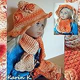 Set: Baby- Hütchen, Schal und Tasche aus Bio- Baumwolle von Lana Grossa