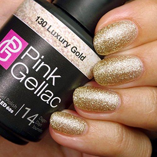 Rose Gellac # 130 Luxury or Glitter European Soak Off UV/LED Gel Polish (15 ml/0.5 Fl Oz) by Rose Gellac
