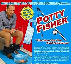 NC Fischen auf dem Klo Potty Fisher, grau / blau, NC_560