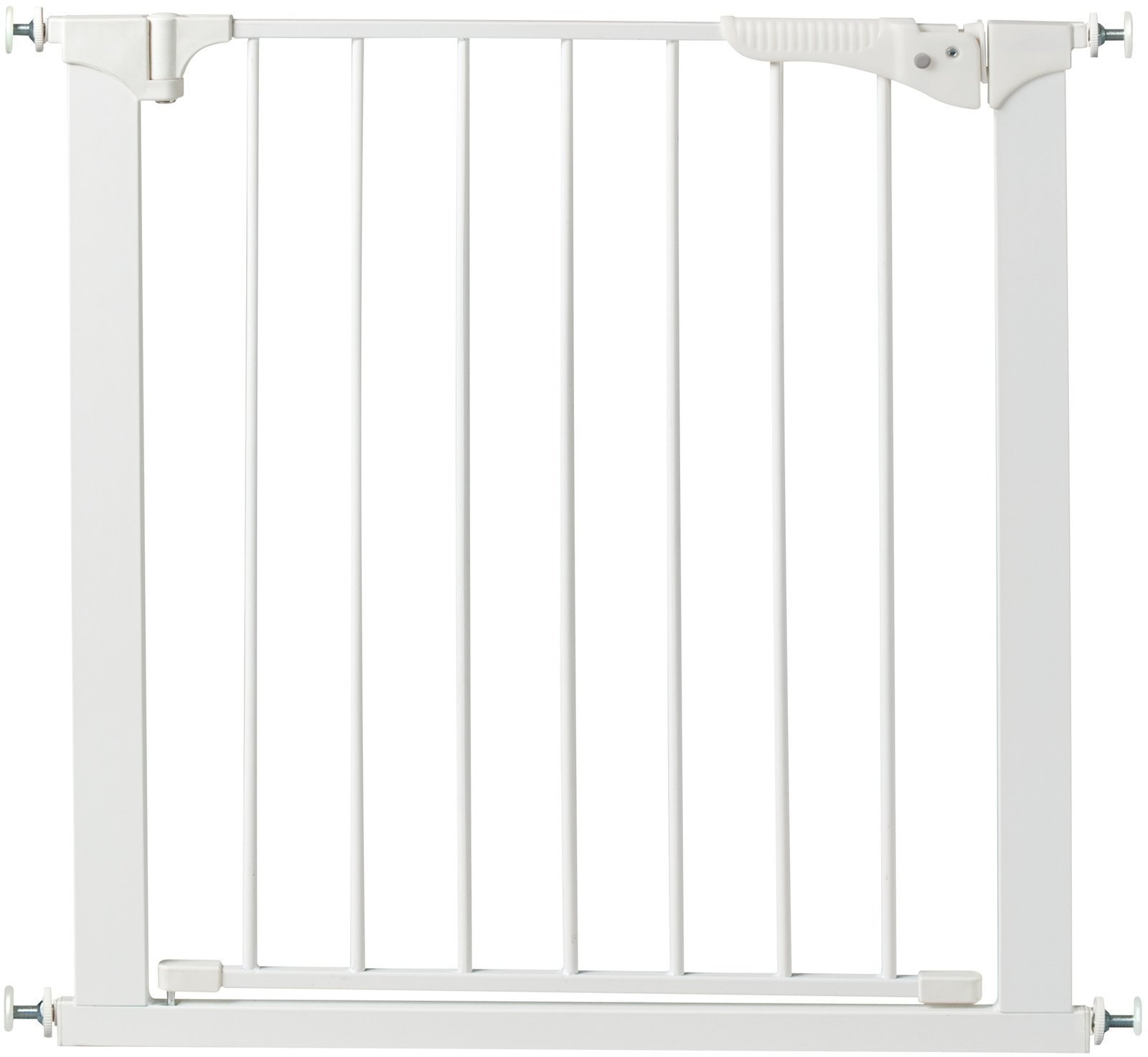 KidCo G15 White Center Gateway with Walk Through Pressure Gate KidCo Easy and one hand operation No damage to walls or doorways Installs quickly and no tools needed 1