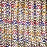 Fabulous Fabrics Viskosejersey Zickzack – apfelgrün/lila