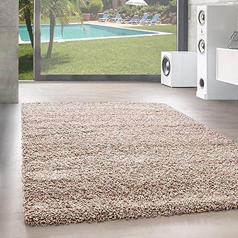 Shaggy Hochflor Langflor Teppich Wohnzimmer Carpet UNI Farben, Rechteck, Rund,.