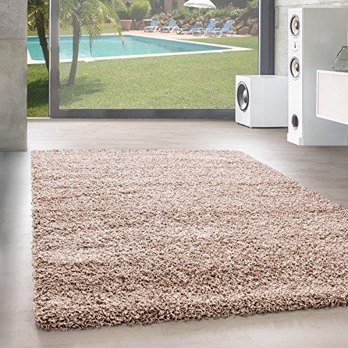Unbekannt Shaggy Hochflor Langflor Teppich Wohnzimmer Carpet Uni Farben, Rechteck, Rund,...