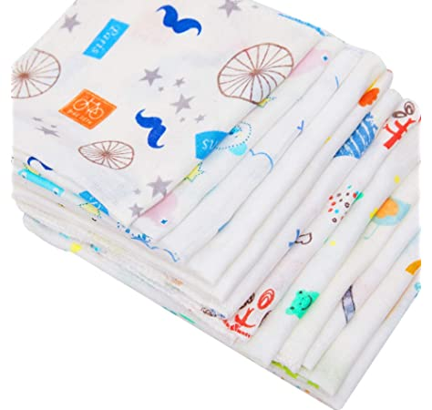 21pcs 30 30cm Baby Gauze Muslin Squares Cotton Muslin Cloth Newborn Baby Face