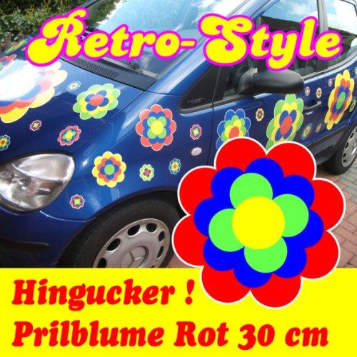 Pegatinas Pril Flores Pril Flores retro style Rojo 30cm