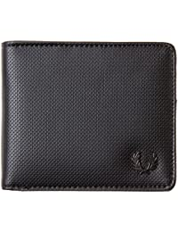 Fred Perry Pique Texture Billfold Homme Wallet Noir