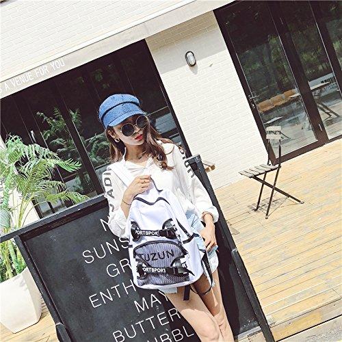 Mode Salbei (SQBB Mode-Salbei-Umhängetasche, Weibliche Koreanische Ausgabe, Harbin High-School-Student Campus Tasche, Canvas Tasche, Rucksack, weiße Tasche, Um Beutel zu senden)