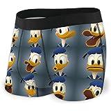HJFRDVBNT Donald Duck - Boxer da uomo in cotone stampato, elasticizzato, traspirante e confortevole, molte misure