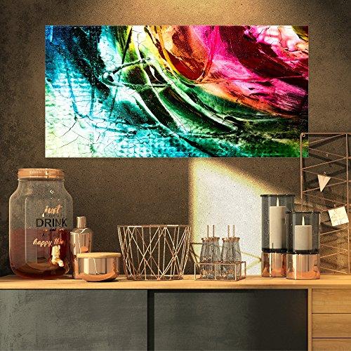 "Abstrakt Buddha Buddhismus Abstrakt auf Leinwand Art Wandbild Photgraphy Artwork Print 32x16"" rot"