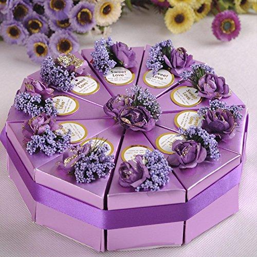 Bazaar 100Kuchen Candy in Geschenkverpackung Hochzeit Party Kuchen, Sweet Schokolade Geschenk-Boxen