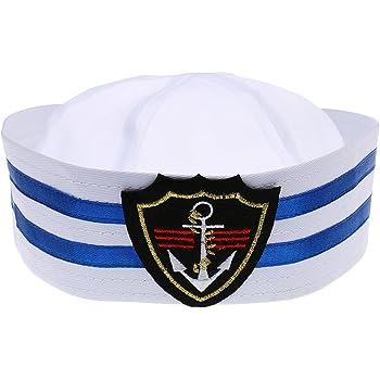 Chapeau Marin Casquette Marine Rayé Enfants Capitaine de Bateau - Taille  Unique - losange, L dcca01aae54