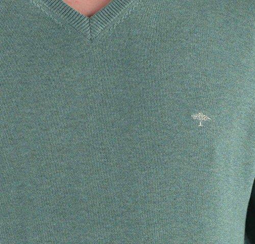 Fynch Hatton Pullover mit V-Ausschnitt grün soft pine 747