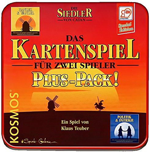 Die Siedler von Catan Kartenspiel - Plus-Pack (Basisspiel + Handel & Wandel + Politik & Intrige) in Blechbox
