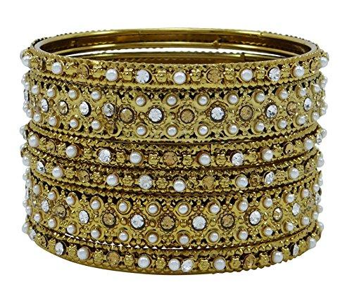 Banithani CZ tradizionale indiano Kada braccialetto set regalo gioielli matrimonio Magnifico per il suo 2* (Fede Regalo)