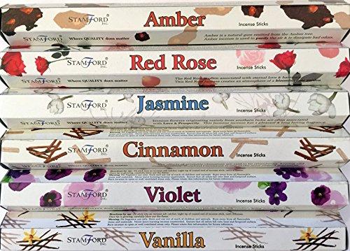 stamford-premium-hex-batons-dencens-ambre-rouge-rose-jasmin-cannelle-violette-et-vanille-coffret-cad