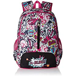 Barbie Nylon 48 cms Pink and Black Children's Backpack (Age group :8 yrs +)