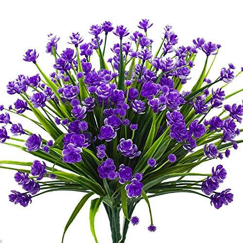 4 Stücke Künstliche Pflanzen Faux Gefälschte Gypsophila Sträucher Simulation Grün Sträucher Hochzeit Mittelstücke Tabelle Blumenarrangement Bouquet,Purple