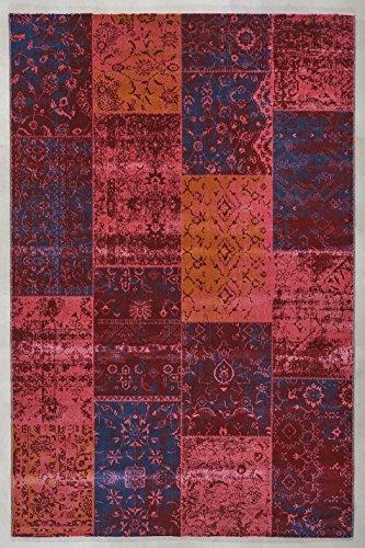Teppichshop-Online-Teppich-gewebt-Cool-Vintage-Patchwork-Aqua-Home