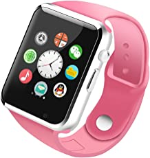Life Like Women's Bluetooth Smartwatch with SIM Card Slot for Samsung, LG, Sony, HTC, Huawei, Google, Xiaomi, Android Smart Phones(Pink)