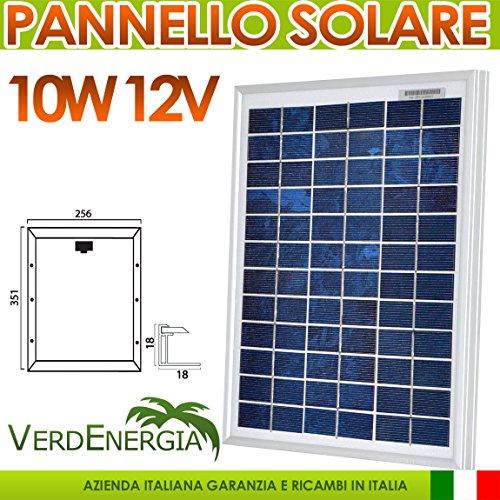 Pannello Solare 10W 12V Modulo Fotovoltaico Policristallino EurSolar