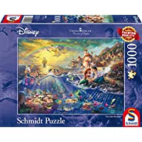 Schmidt 59479 Puzzle la Sirenetta Ariel Thomas Kinkade 1000 Pezzi