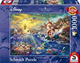 Schmidt Spiele Puzzle 59479 - Puzzle Thomas Kinkade 1.000 Teile Disney Kleine Meerjungfrau, Arielle