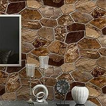 Ladrillo de piedra Fondo de pantalla 3D Fondo de la sala de estar Pared de PVC
