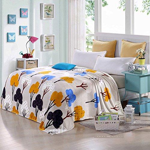 shinemoon All Season Weiche Flanell Bettwäsche Couch Bezug Decke für Erwachsene Kinder Leichte Outdoor Reisen Camping Rest decken für kalte (Weiche Flanell-bettwäsche)
