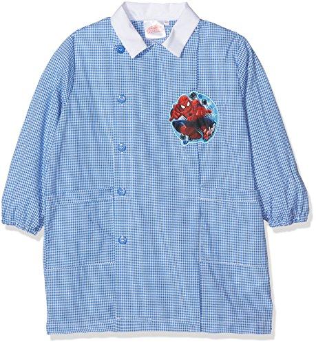 Sun city grembiule spider-man zzipp, top per divisa scolastica bambino, blu (celeste/bianco), 92 (taglia produttore:45)