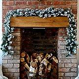 Premier Girlande mit Kunstschnee, für Weihnachten, mit Glitzer, 2,7m