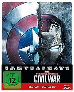 The first Avenger - Civil War 3D: 3D+2D, Steelbook Edition [3D Blu-ray]