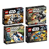 Lego Star Wars 4er Set 75160 75161 75166 75167 U-Wing Microfighter + TIE Striker Microfighter + First Order Transport Speeder + Bounty Hunter Speed Bike