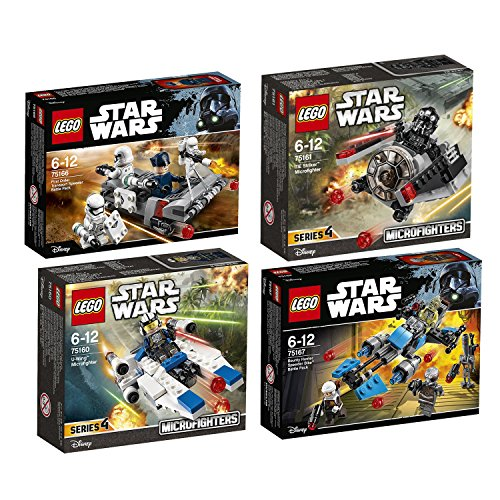 Lego-Star-Wars-4pcs-set-75160-75161-75166-75167-U-Wing-Microfighter-Tie-Striker-Microfighter-First-Order-Transport-Speeder-Battle-Pac-Bounty-Hunter-Speeder-Bike-Battle-Pack