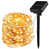 200 LED Solar Lichterkette Kupferdraht lichterketten, TryLight Warmweiß 22M LED Lichterkette, 8 Modi IP65 Wasserdichte Solarlichterkette, Innen- und Außen Weihnachtsbeleuchtung für Garten Weihnachten Hochzeit Party