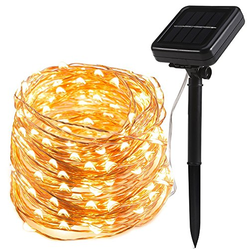 200 LED Solar Lichterkette, TryLight Warmweiß 22M LED Kupferdraht lichterketten, 8 Modi IP65 Wasserdicht Solarlichterkette, Innen- und Außen Weihnachtsbeleuchtung für Weihnachten Hochzeit Halloween