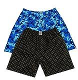 #8: UNO Boys Printed Boxer Shorts Pure Cotton (3,7) Combo of 2