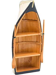 Regal Boot Holz Bootsregal Schiff Maritim Dekoration Schrank
