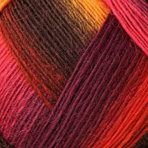 Lana Grossa Meilenweit Magico II 3501 Pelote de laine Jaune/rouge/rose/marron/violet