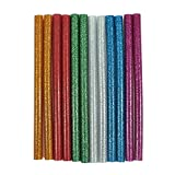 #9: billionBAG Hot Melt Multi Purpose Glitter Glue Stick Multicolor (Golden, Green, Blue, Silver, Pink, White, Red) (Pack of 10)