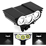 AllExtreme EX3OEB1 3 LED Owl Eye Waterproof CREE LED Fog Light with High Beam/Low Beam Function for Bike/Motorcycle and Cars