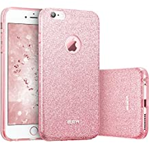 Funda iPhone 6S/ iPhone 6, ESR Funda Case Carcasa Dura Brillante Brillo Purpurina llamativa para Apple iPhone 6S/6 - Rosa Dorado