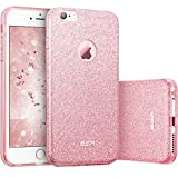 ESR Coque pour iPhone 6 Plus/6S Plus Rose, Coque Silicone Paillette Strass Brillante Bling Bling Glitter de pour Apple iPhone 6S Plus/6 Plus (5.5 Pouces) (Série Glamour, Or Rose Pailleté)