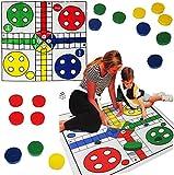 alles-meine.de GmbH XL Spiel / Bodenspiel -  Nicht Ärgern  - 84 cm * 84 cm - Bodenmatte - Innen & Außen - für Kinder & Erwachsene - Outdoor - Spiele / Mädchen Jungen - Spielmat..