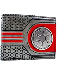 Cartera de Disney Star Wars Logotipo galáctico metal Plata