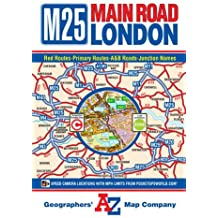 M25 Main Road Map Of London A Z Road Map
