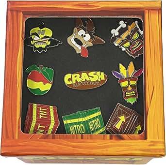 Officiel Crash Bandicoot Ensemble de badge Pin